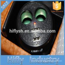 HF-LY0186 Auto zigarettenanzünder aufladbar IPAD eins zwei ein punkte zwei doppel USB tasse upgrade IC (CE zertifikat)