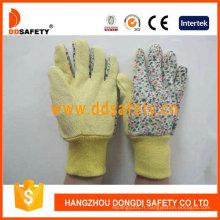Gants de jardin avec dos en coton fleur Dgs403