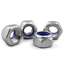 """Grade NTE 18-8 Stainless Steel Jam Nylon Insert Lock Nut 1/2 """"-13"""