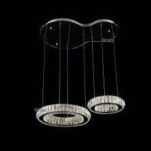 rings modern led chandelier light fixture indoor