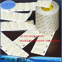 DIE CUT 3M 9707 DOUBLE SIDED ADHESIVE TAPE OR STICKER