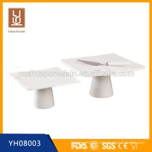 square white ceramic cake stand for wedding
