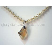 Модные новый дизайн прозрачный большой стеклянный кристалл бусы ожерелья
