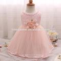 Haut de gamme bébé fille baptême robe tulle arc princesse enfants fleur filles robe pour le mariage