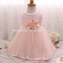 High end baby girl baptismo vestido de tule arco princesa crianças meninas vestido de noiva