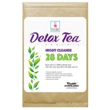 Chá orgânico de desintoxicação erval chá emagrecimento chá perda de peso (28 dias noite limpar chá)
