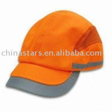 Capuchon de protection réfléchissante à haute visibilité orange
