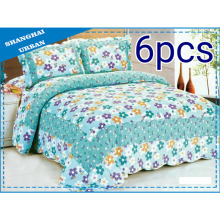 Edredón de ropa de cama de algodón fresco de 6 piezas (juego)