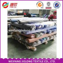 wholesale factory stock t/c poplin dyed fabric shirting poplin stock fabric for garment