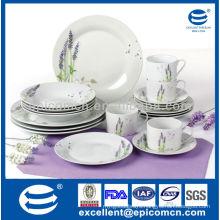 hot selling lavender decoration 20pcs household crockery dinnerware
