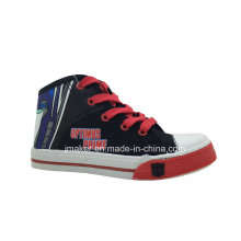 Fashion Cool Cartoon High Ankle Children Shoes Sneaker (X167-S&B)