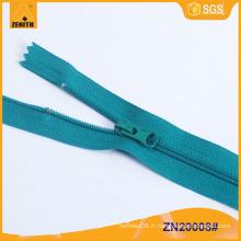 Eco-Friendly Metals Detector 3 # Nylon Zippers Fermer Fin ZN20008