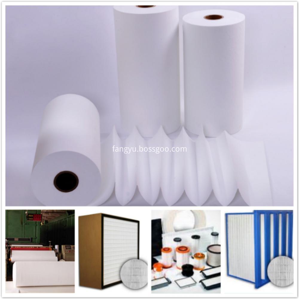 Fiberglass Air Flter Paper For Air Filter