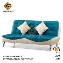 Sofá de sala de estar de estofos de tecido azul (GV-BS-501)