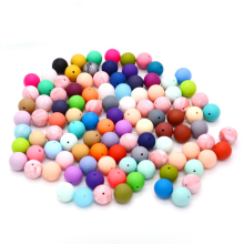 Diy Baby Food Grade Teether Ring 19mm 15mm Round New Wholesale Teething Bpa Free Chew Silicone Beads