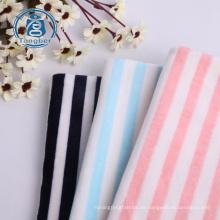 Super Soft Stripe Print Polyester Stretch Samtstoff