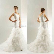 NY-2016 LUX ORGANZA et COUTURE SATIN Robe de mariée accessoires en fleur