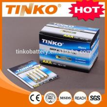 batería seca tamaño AAA LR03 súper batería alcalina