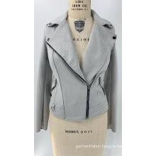 Women's Grey Faux Suede Jacket