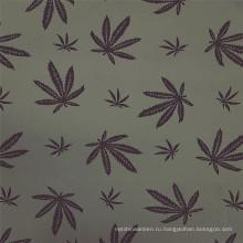 Элегантная ткань из вискозы с серым кленовым листом и бенгальским принтом