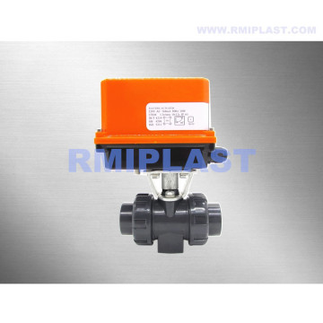 Limit Switch ile Elektrikli Küresel Vana UPVC