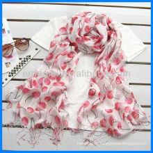 Fashion linen fruit screen printing scarf
