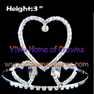 All Clear Crystal Heart Shaped, Kronen und Tiaras
