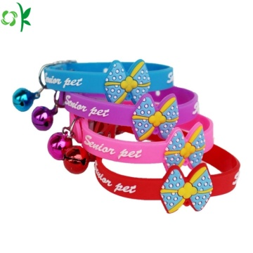 Hot Selling Cute Silicone Pet Collar voor decoratie