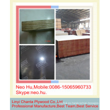 Linyi negro película impermeable material frente a la madera contrachapada