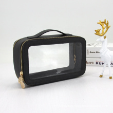 Good Quality Wholesale Waterproof Clear Transprent Cosmetic Washing Pouch PVC Cosmetic Bag