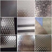 Hoja y placa de acero inoxidable en relieve 304L 316