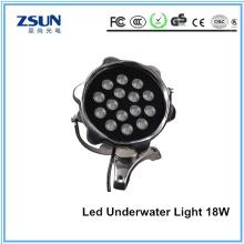 Luz subaquática do diodo emissor de luz da piscina DC12V / 24V 18W RGB do fornecedor de China