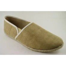 Men Classic Brown Upper Canvas Shoes (NU10)