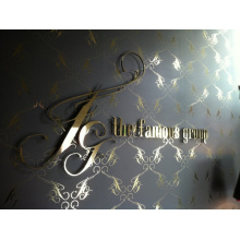 Customized Stainless Steel Logo for Reception Wall (ID-07)