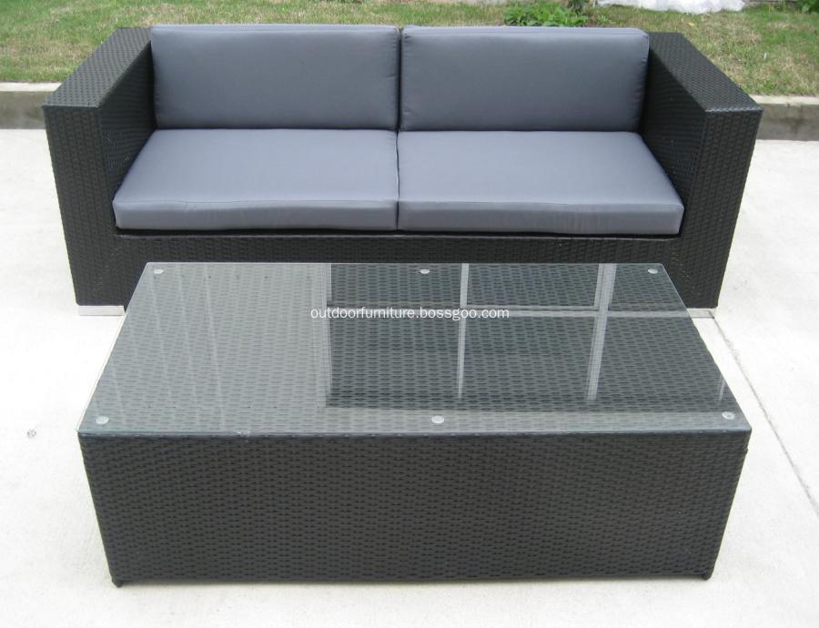 DLR1108-8 Plastic Wicker Garden Modern Leisure Sofa Furniture