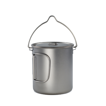 TITANIUM 1300ML POT MET BAIL HANDVAT