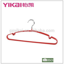Top sale PVC coated metal agent hangers with notches amd bar