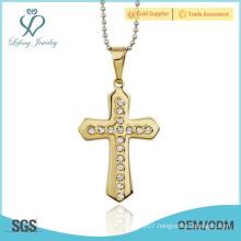 Cross gold celtic crosses,crystal celtic style cross pendant jewelry