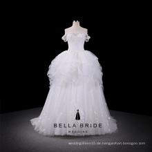 Lace-up süß-Herz Ausschnitt Ballkleid Brautkleid mit Gericht Zug