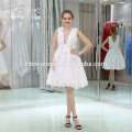Ladies Pure White Short Muslim Evening Dress For Wedding Party