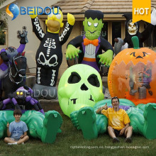 Inflable Gato Casa Calabaza Espíritu Negro Espíritu Inflables Decoraciones de Halloween