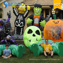 Inflatable Cat Pumpkin House Black Spirit Ghost Inflatable Halloween Décorations