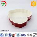 9 inch customized logo heart shaped ceramic plate,Heart-shaped ovenware