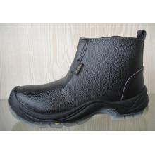 Chaussures de sécurité cuir fendu avec Mesh doublure (HQ03012)