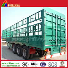 Bulk Goods Transport Tri-Axle Gooseneck Cargo Truck Trailer