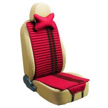 Siège auto coussin forme plate côtés Double utilisation avec lin et velours-rouge
