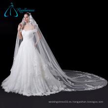 Elegante encaje blanco suave nupcial de la boda velo de la boda