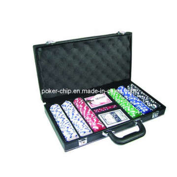 300PCS Poker Chip Set in Black Color Leather Case (SY-S20)
