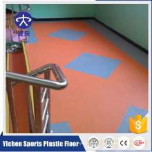 Colorful Kindergarten Litchi Pattern Vinyl PVC Flooring