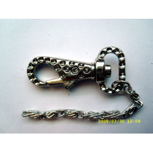 Metal key chain with lobster clasp